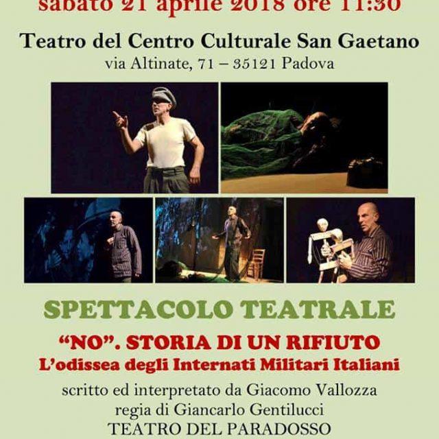 """""""No"""" storia di un rifiuto 21 aprile 2018  Padova"""