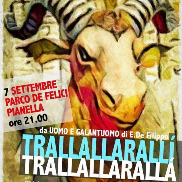 7 settembre 2017 Parco De Felici Pianella ore 21.00